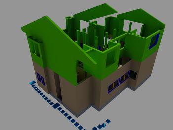 3D CADセミナーにて作図実習中のモデル